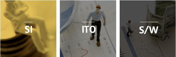 SI(시스템통합),ITO(아웃소싱),S/W(소프트웨어 개발)
