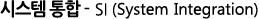 시스템 통합 - SI (System Integration)