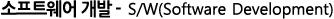 소프트웨어 개발 - SW (Software Development)